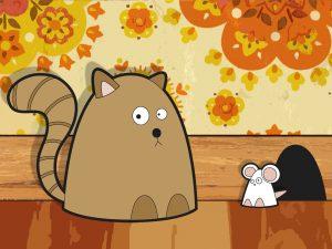 Игра с малышом в кошки-мышки