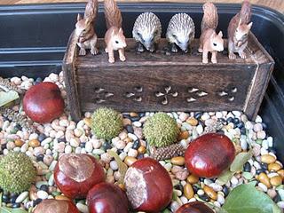 сенсорная коробка с животными