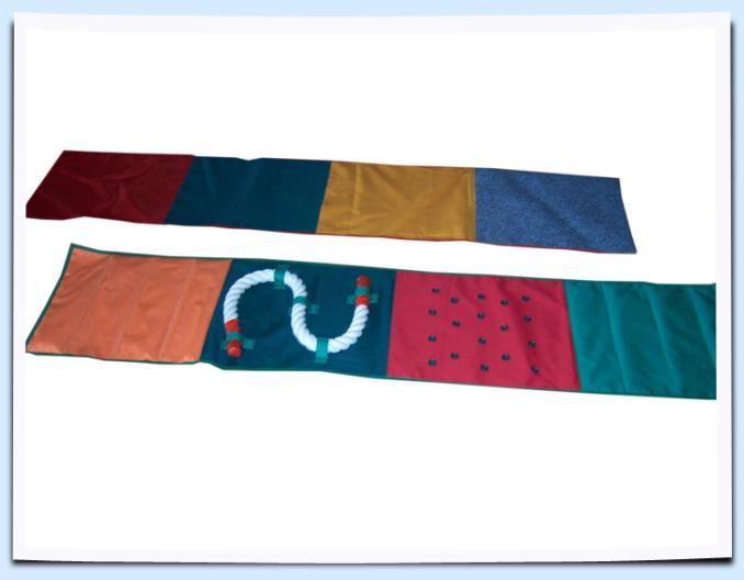 Сенсорная дорожка из ткани разной шероховатости и температуры (дальнее фото) - СПОРТИВНОЕ ДЕТСТВО