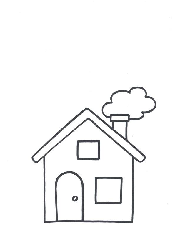 картинка дом раскраска для детей
