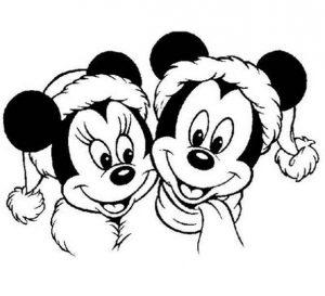 Микки Маус: картинки-раскраски для детей