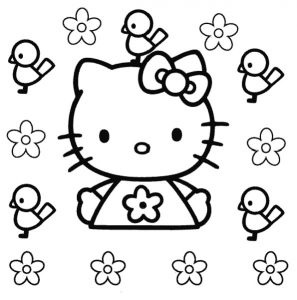 Хелло Китти - раскраски для детей
