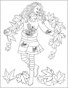 Раскраска: осень золотая для детей
