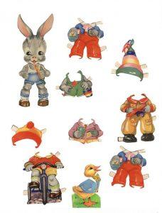 заяц-бумажная кукла