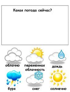 Расскажите детям о погоде