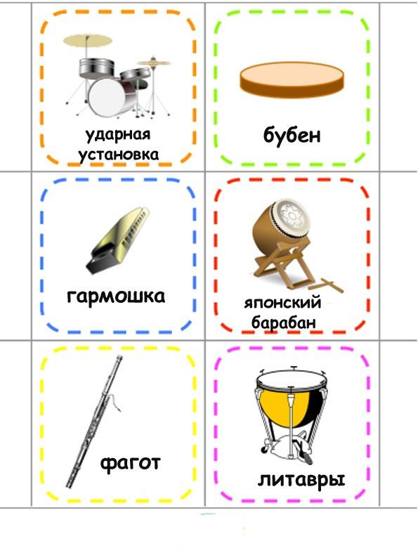 Картинки с музыкальными инструментами для детей
