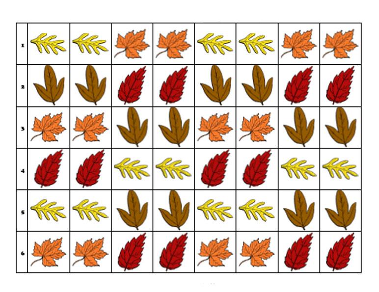 листья деревьев картинки задания