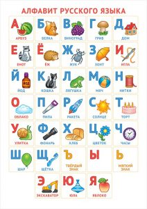 Русские буквы (карточки, картинки и плакаты)