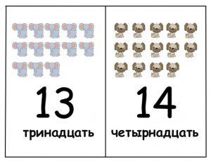 Развивающие задания и карточки с цифрами для детей