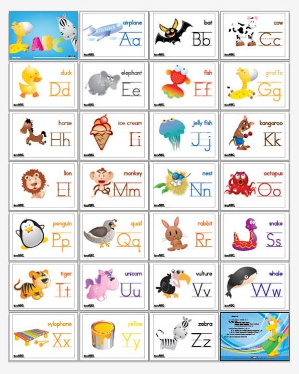 Как с ребенком сделать карточки алфавита по английскому языку