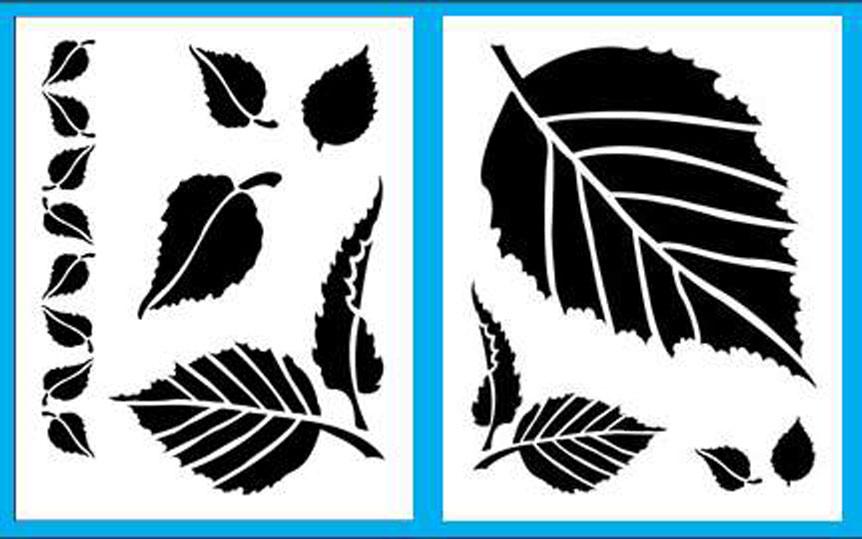 Трафарет листья