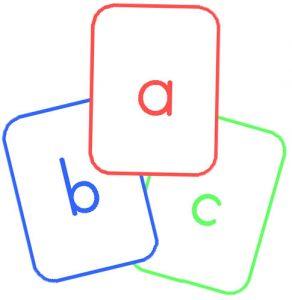 Буквы английского алфавита - карточки с транскрипцией