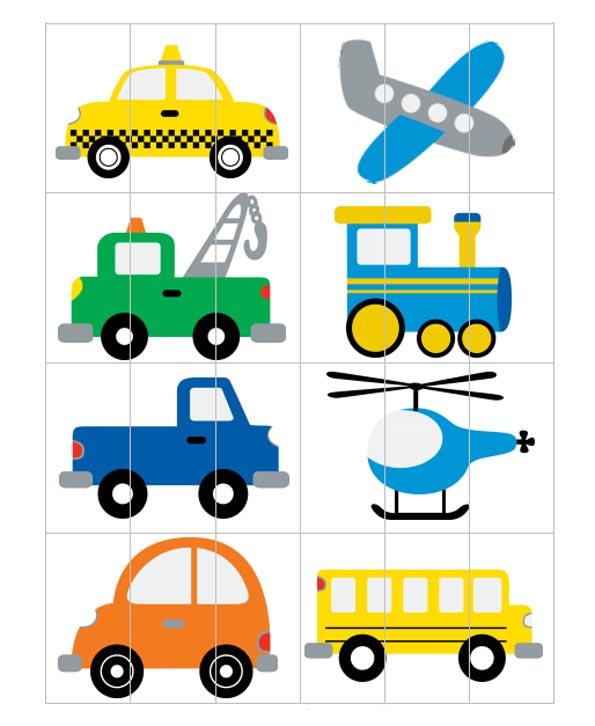 пазл транспорт для детей