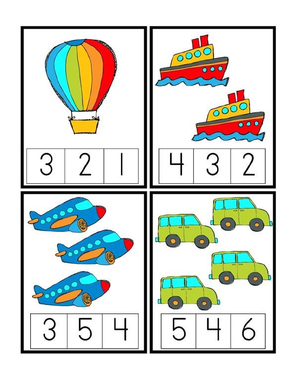 математическая игра про транспорт