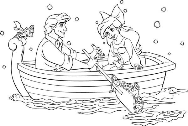 раскраска ариэль и другие русалки