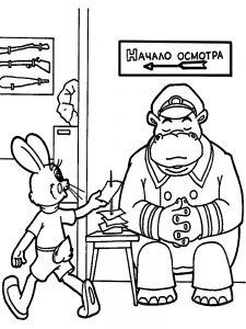 """Разукрашиваем героев мультфильма: """"Ну, погоди!"""""""