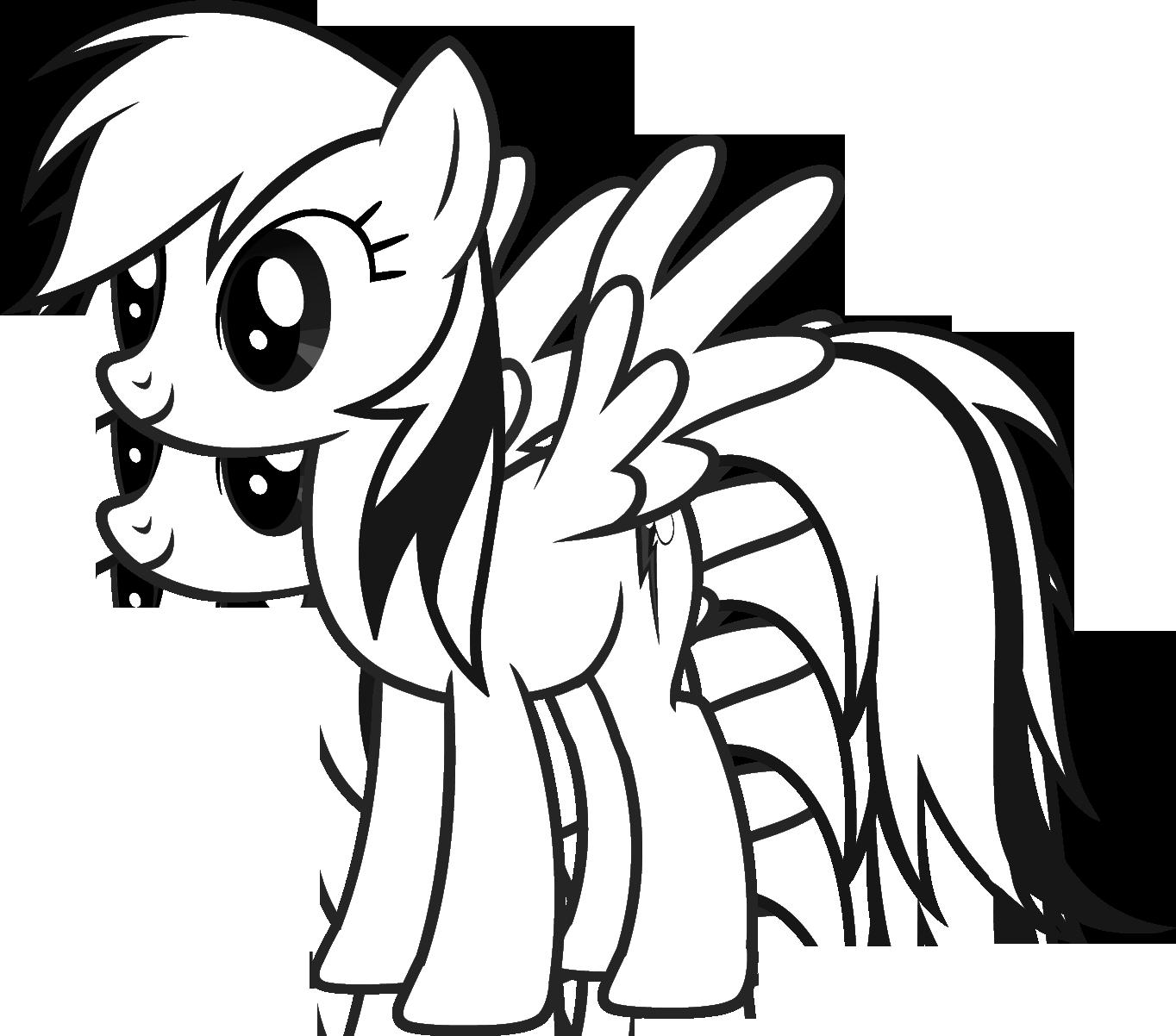 раскраски для девочек май литл пони My Little Pony