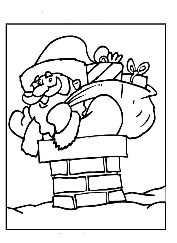 Раскраска новый год у ворот