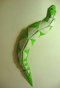 Змея - оригами для детей