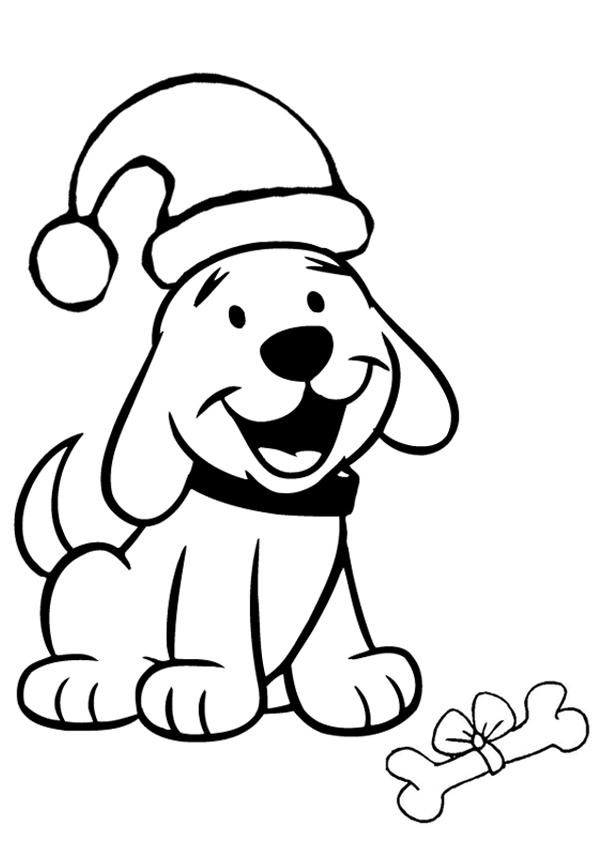 раскраска собака к новому году 20184