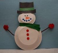 снеговик поделка