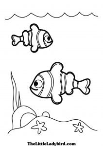 Раскраски: рыбы для детей