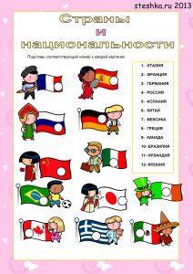Костюмы разных народов мира для детей: картинки и карточки