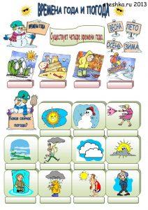 Детские картинки: времена года