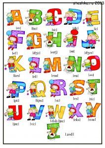 angliyskiyalfavit 212x300 Английский алфавит распечатать
