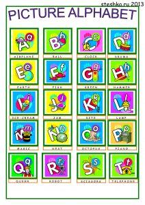 angliyskiyalfavit3 212x300 Английский алфавит распечатать