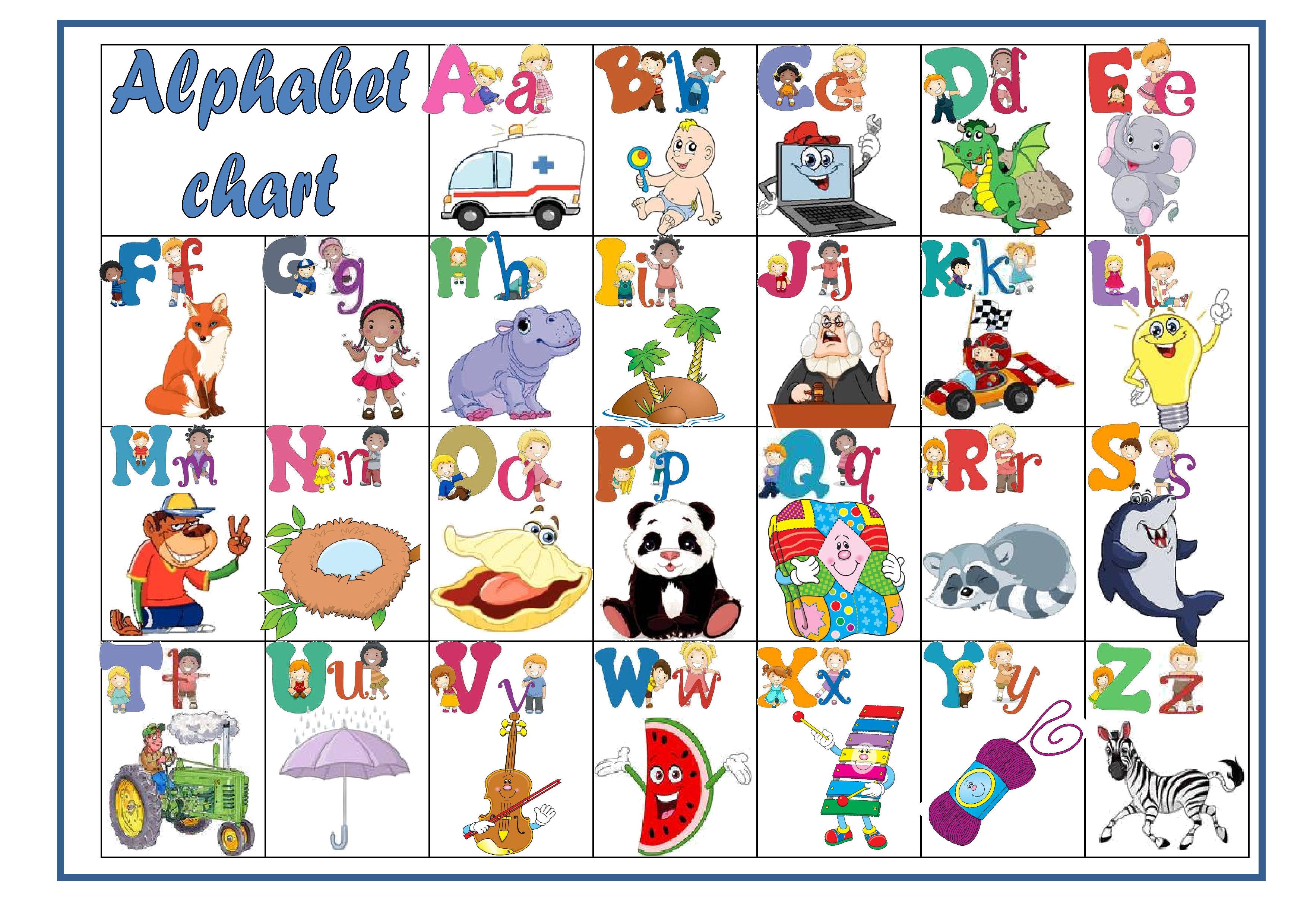 Английский алфавит: видео и карточки