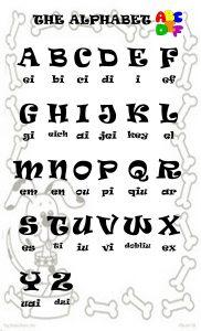 английский алфавит карточки