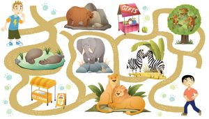 Картинки, игры и раскраски с лабиринтами с детьми