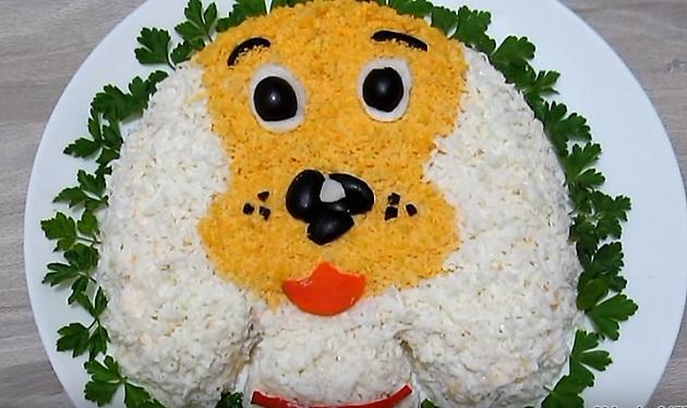 салат собака на новый год2