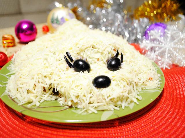 салат собака на новый год