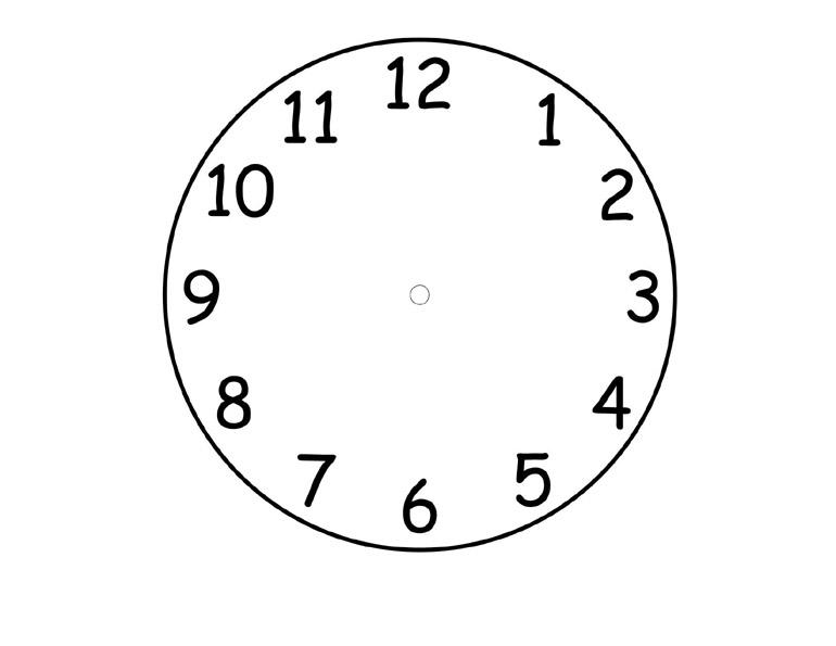 шаблон часов