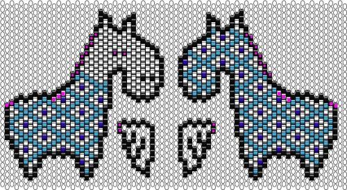 схема лошадок из бисера
