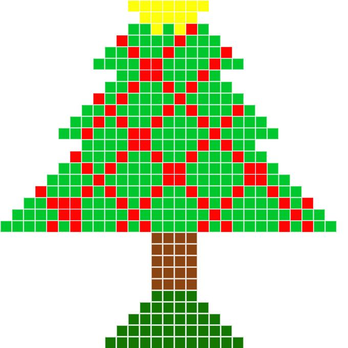 елка из бисера схема3