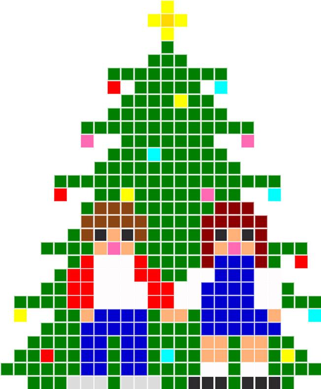 елка из бисера схема4