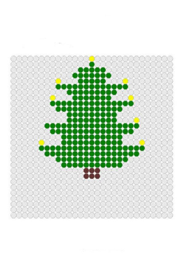 елка схема для бисера