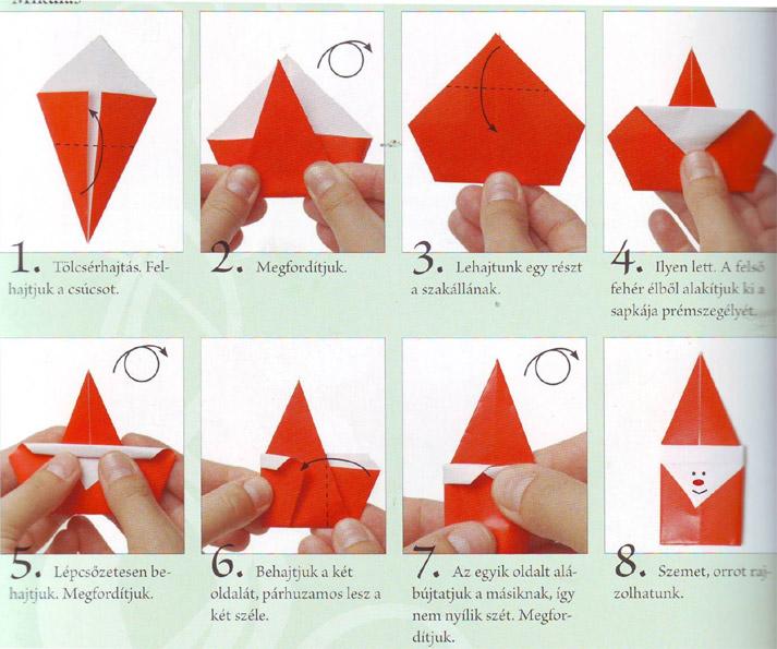 Дед мороз в оригами