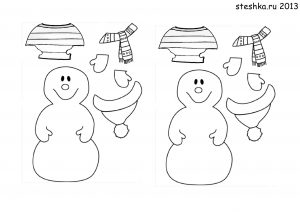 снеговик картинка