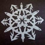 Снежинки балеринки для вырезания