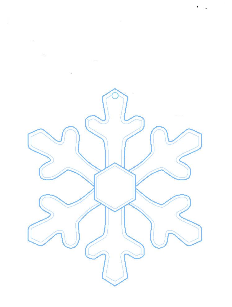 Скачать бесплатно шаблон снежинки для вырезания