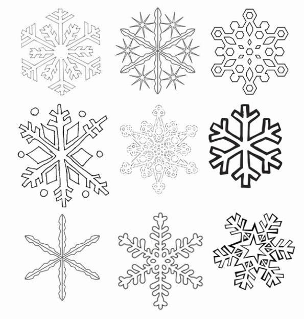 вытынанки снежинки шаблоны