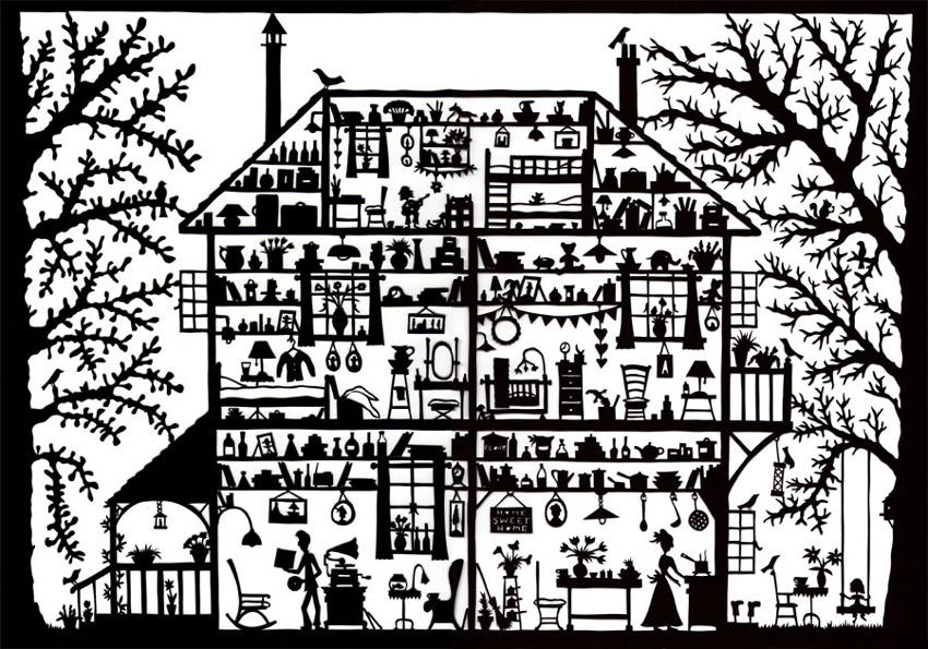 дом вытынанка