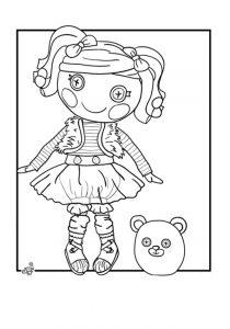 Раскраски для девочек Лалалупси