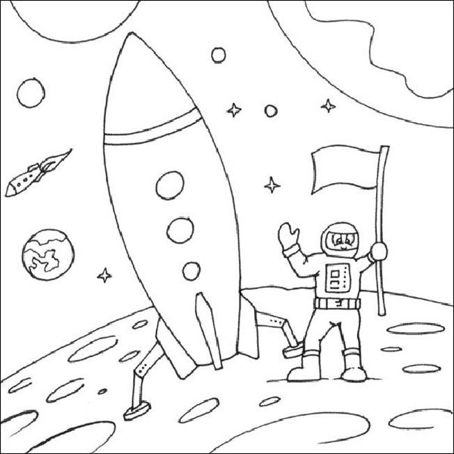 Раскраска про космос и космонавтов