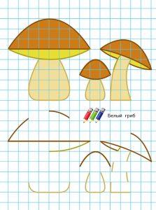 рисование по клеточкам для детей