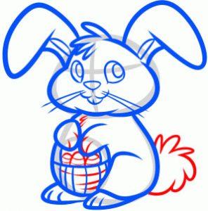 как нарисовать пасхального кролика
